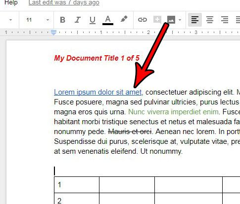 modify a link in google docs