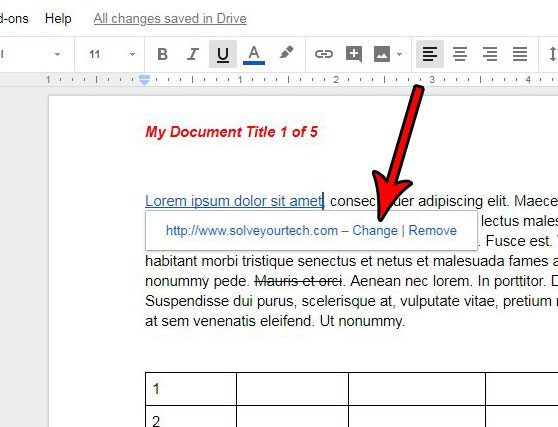 how to edit a google docs link