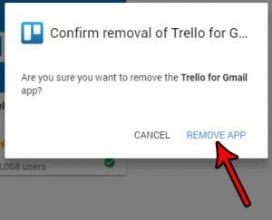 how to delete an add on in gmail