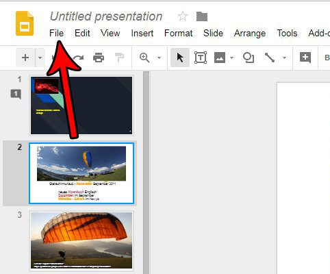 save a google slide as a picture
