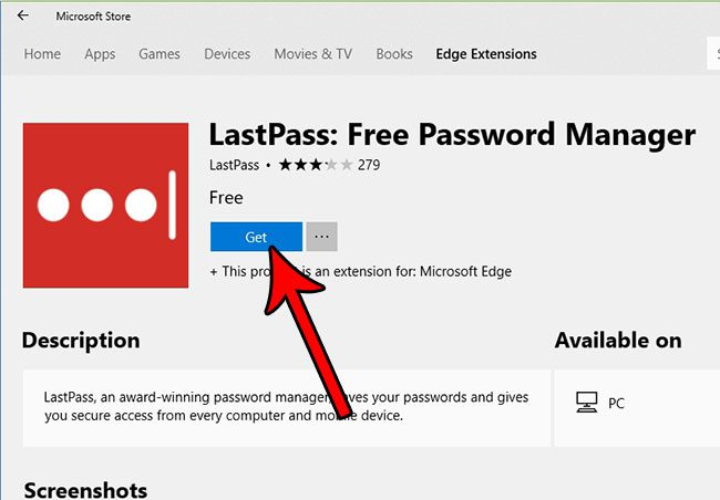 how to get microsoft edge extension