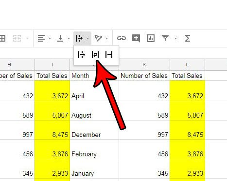 how enable text wrapping google sheets
