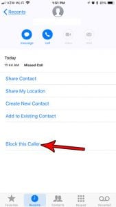 does blocking a number from calling you on iphone also block from texting