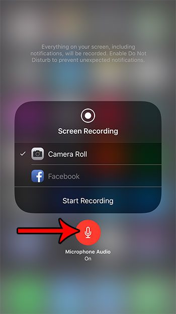 how add audio screen recording iphone