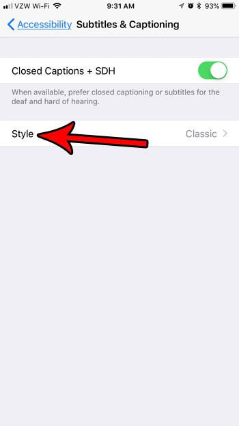 change layout of subtitles on iphone