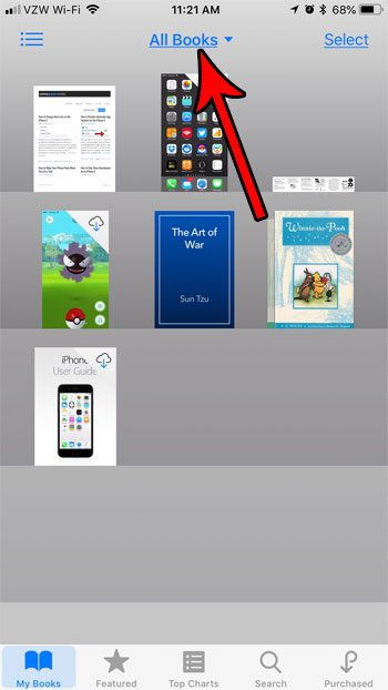 how organize files ibooks iphone