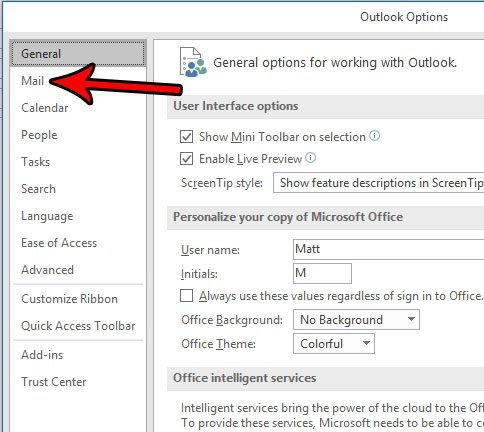 put name and phone number at end of outlook email