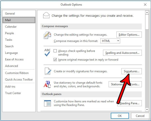 outlook signature