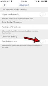 How to Disable Auto Lock When Using Pandora on an iPhone
