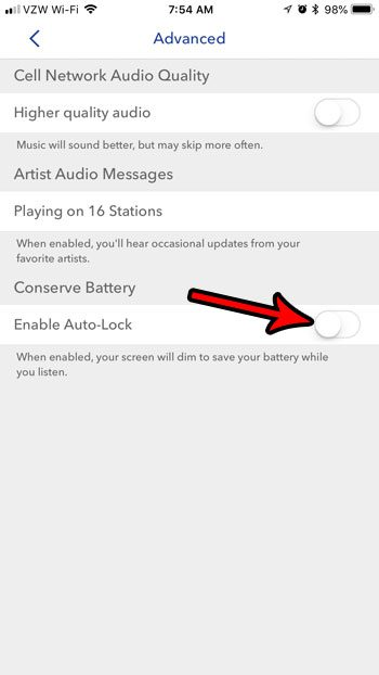official photos 65457 731c1 How to Disable Auto Lock When Using Pandora on an iPhone - Solve ...