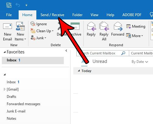 how get out of offline mode outlook 2016