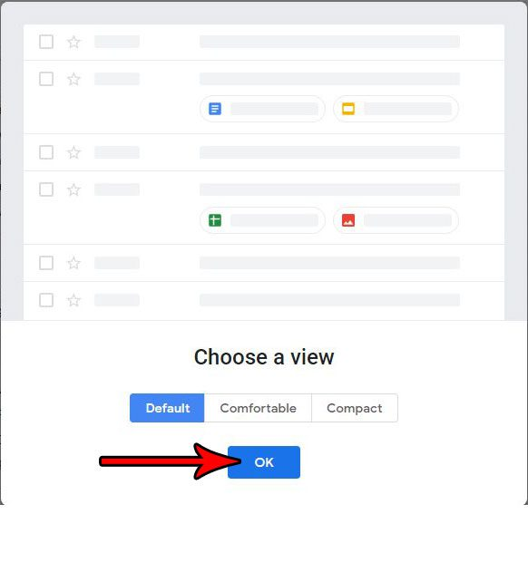 choose layout for new gmail