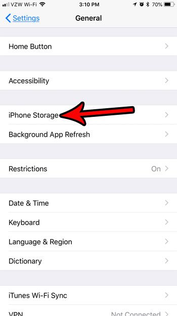 ios 11 iphone storage menu