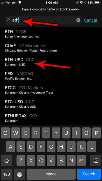 how add cryptocurrency stocks iphone