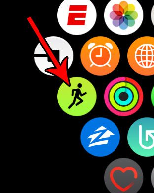 open apple watch workout app