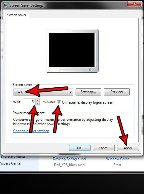 how to lock screen after inactivity in windows 7