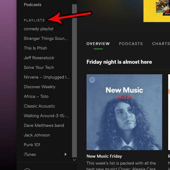 find the playlists in the spotify desktop app