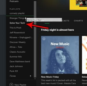 how to manually sort playlists in the spotify desktop app