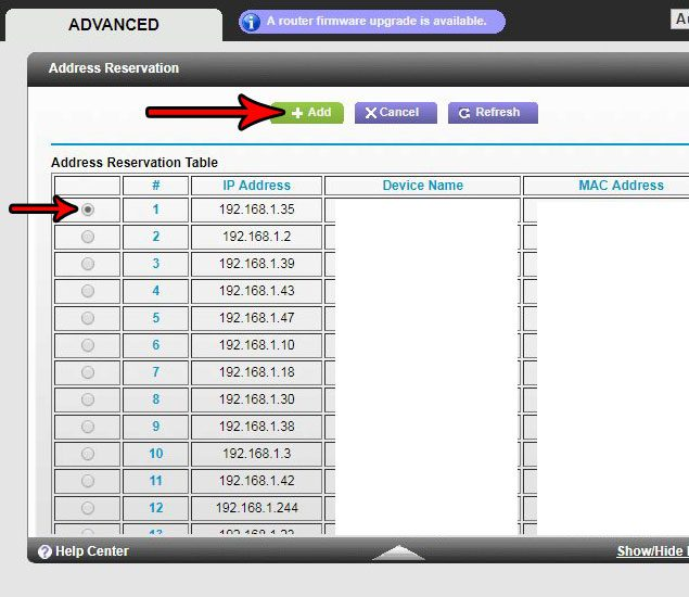 how reserve ip address netgear n600