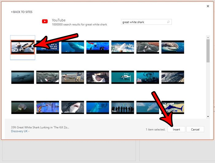 how embed youtube video in powerpoint online