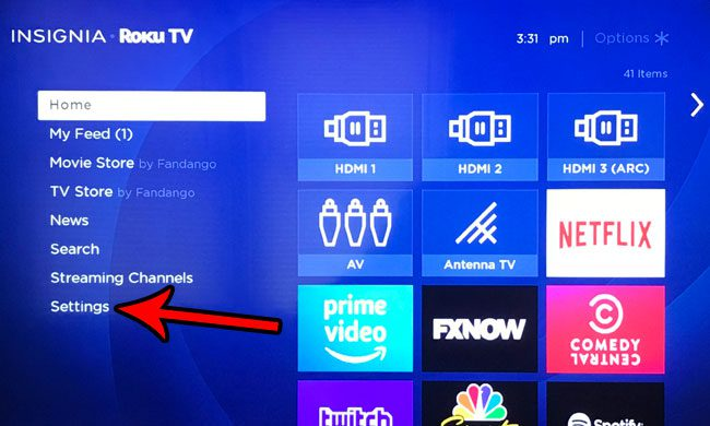 change brightness setting for roku tv