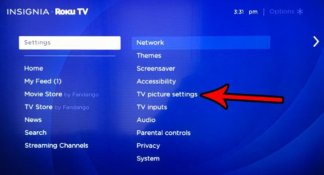 how make roku tv brighter or dimmer