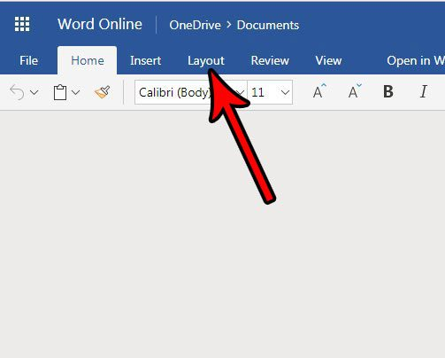 how to use different size paper in word online