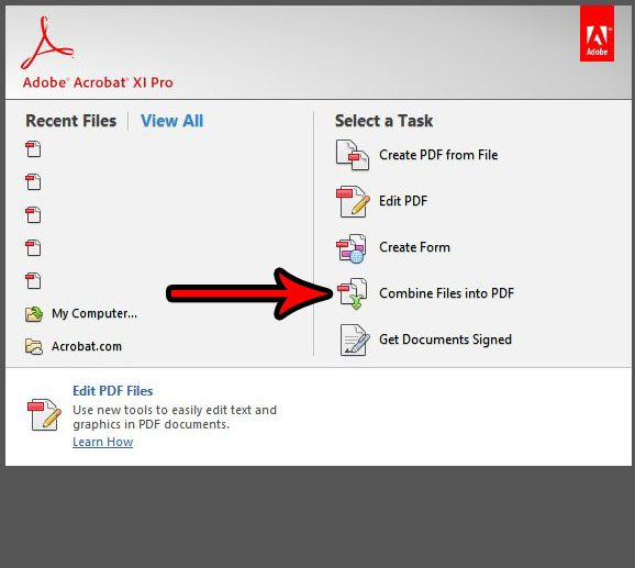 How to combine pdf files adobe reader x