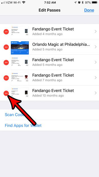 remove expired passes from iphone wallet