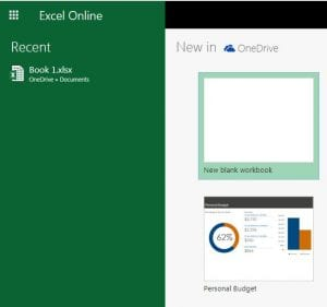 open the file to download from excel online