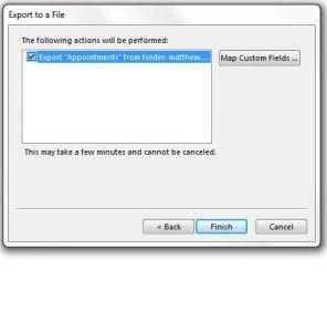 how to export calendar as csv from outlook 2013