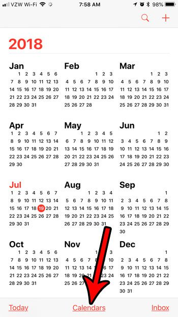 remove holidays from the calendar on my iphone