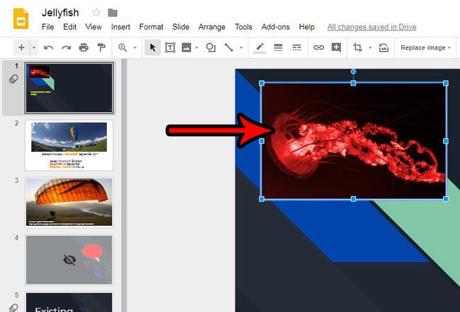select picture to animate google slides