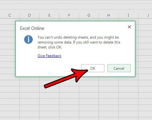how to remove worksheet tab excel online