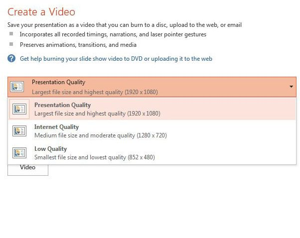 choose quality for exported mp4 file