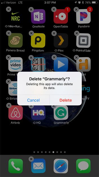 delete third party app keyboard on iphone