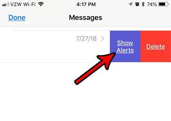 show alerts for muted group message on iphone