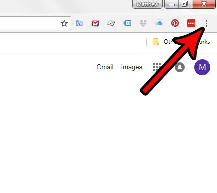 open the customize and control google chrome menu
