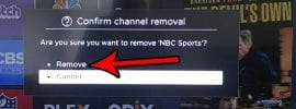 how to delete a channel on the roku tv