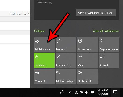 how to enable tablet mode in windows 10