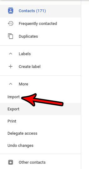 gmail contacts csv import