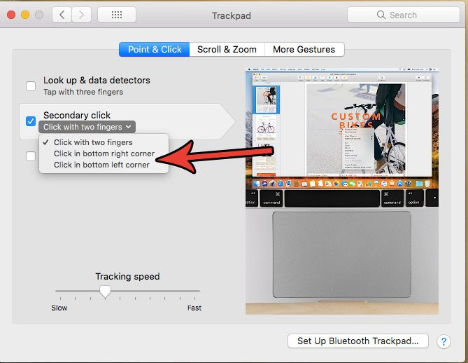 how to right click on a macbook air