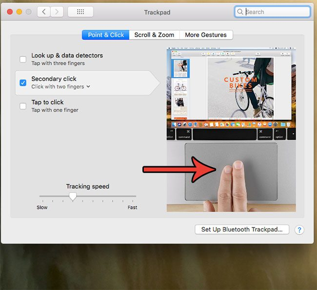 how to right click using two fingers on macbook air