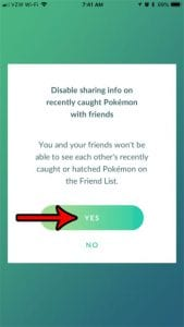 How to Stop Sharing Recently Caught Pokemon with Friends in Pokemon Go