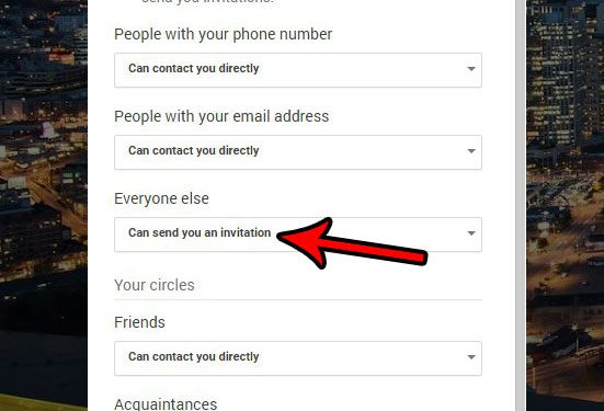change the settings for stranger requests in google hangouts