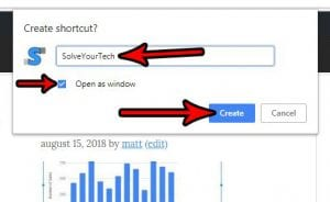 how to create a desktop shortcut in google chrome