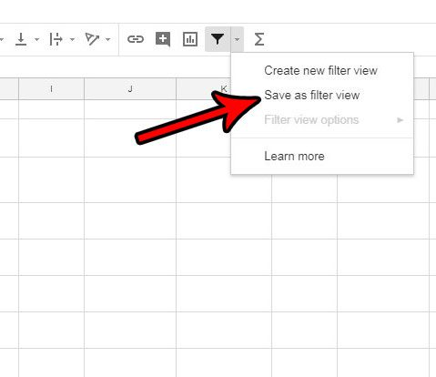 how to save a filter view in google sheets