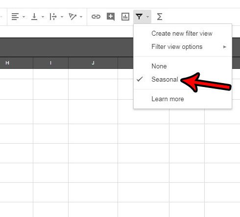 how to switch to a filter in google sheets