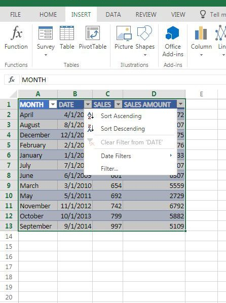 how to sort by date in excel online