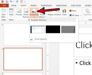 how to insert a screenshot in powerpoint
